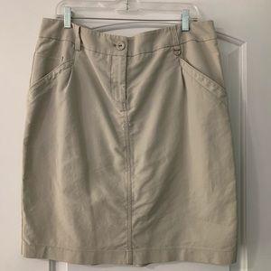 New York &Company stretch Khaki shirt size 16
